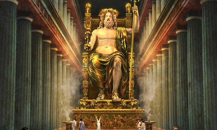 Statue koje oduzimaju dah Finished_statue_of_zeus_at_olympia