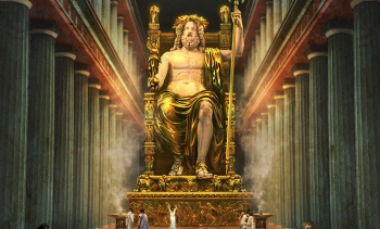 Finished statue of zeus at olympia.jpg